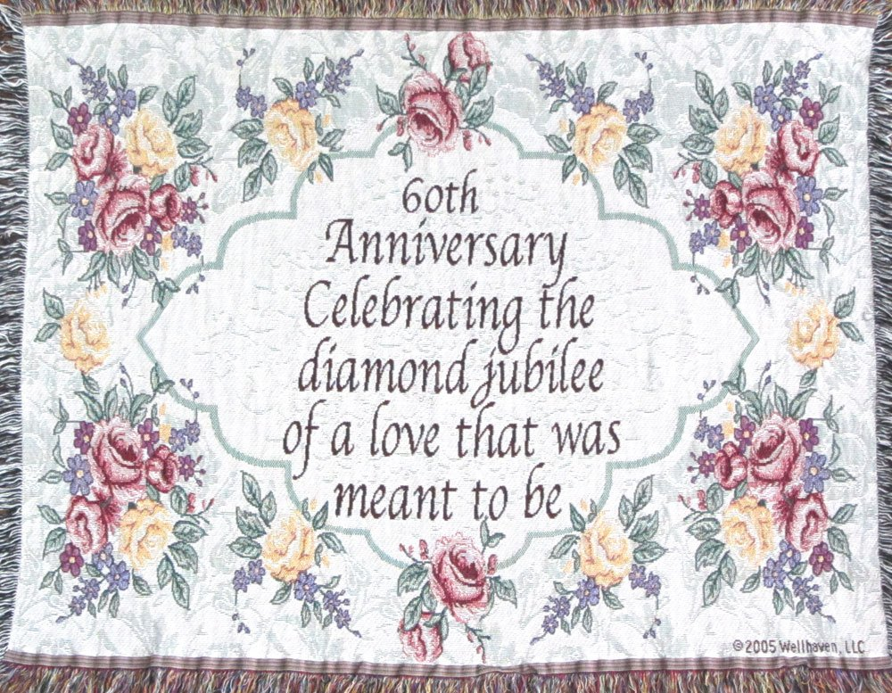 60th Wedding Anniversary Gifts For Parents: 60th Wedding Anniversary Sofa Throw