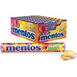 Mentos Fruit Mints Roll, 40 Pack x 37.5 Grams