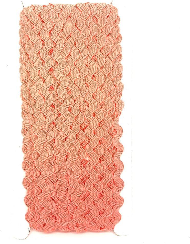 22,9/m rotolo di nastro ondulato cantieri nastro Treccie Ricrac scelta di colori DIY cucitura di accessori soffitta Hot Pink