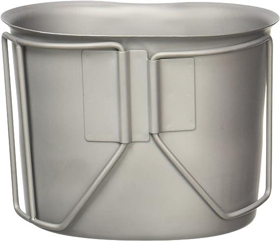 Mil-Tec Trinkbecher Edelstahl mit Drahtgriffen 600ml Edelstahlbecher
