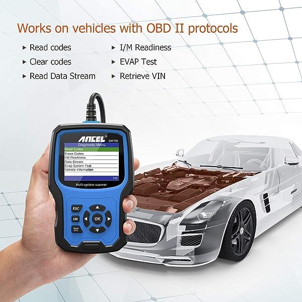 Like Ancel BM500, BM700 supports all the five OBD2 protocols.