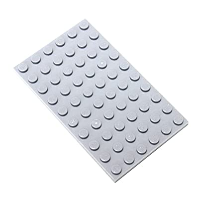 """LEGO Parts and Pieces: Light Gray (Medium Stone Grey) 6x10 (1.8""""x3.0"""") Plate x20: Toys & Games"""