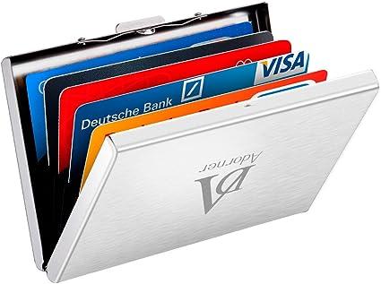 Atmoko Kreditkartenetui 6 Kartenetui Rfid Blocker Scheckkartenetui Visitenkartenetui Credit Card Metall Kreditkartenetui Kartentasche Bankkartenetui