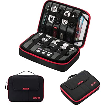 pb travel Smart Organizer Travel Cable Organizer with Tablet Pocket
