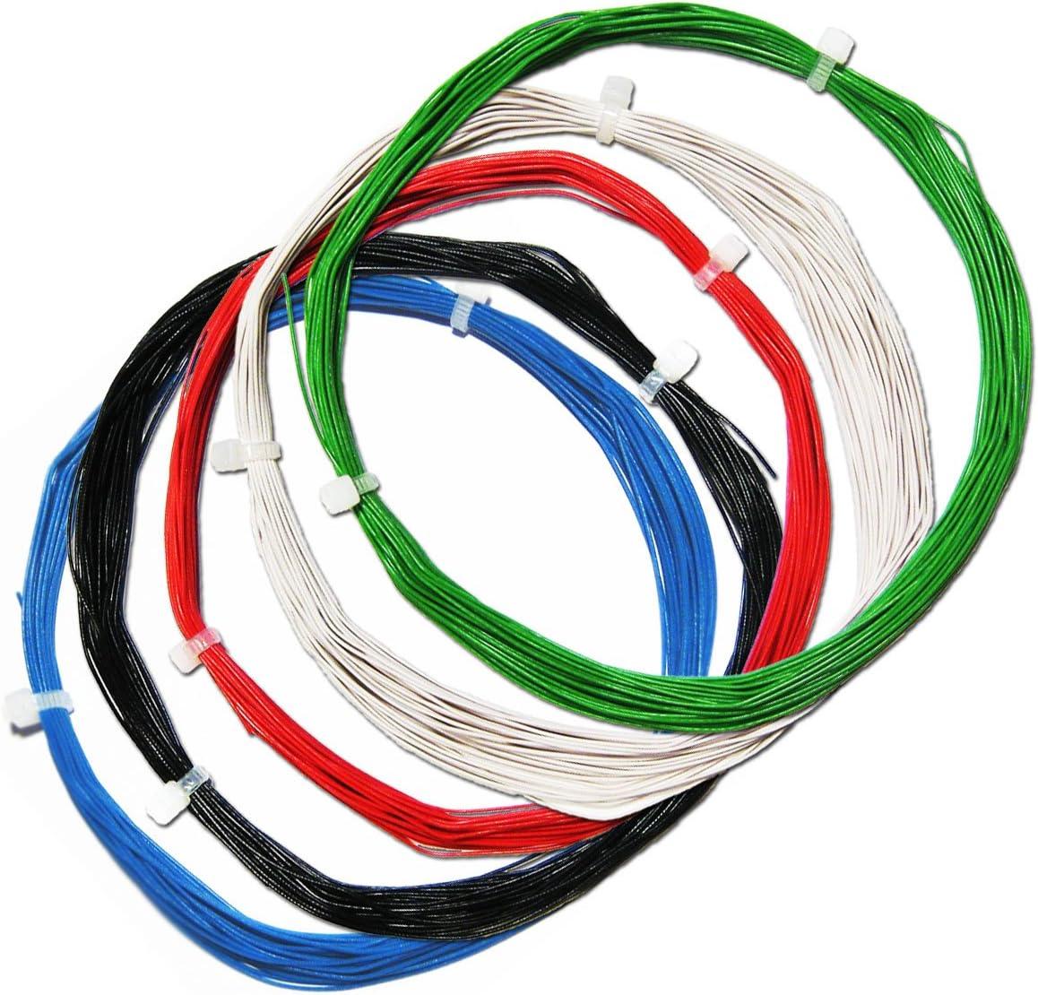 0,19€//m 10m Litze grün KABEL flexibel 0,25mm² zB LEDs