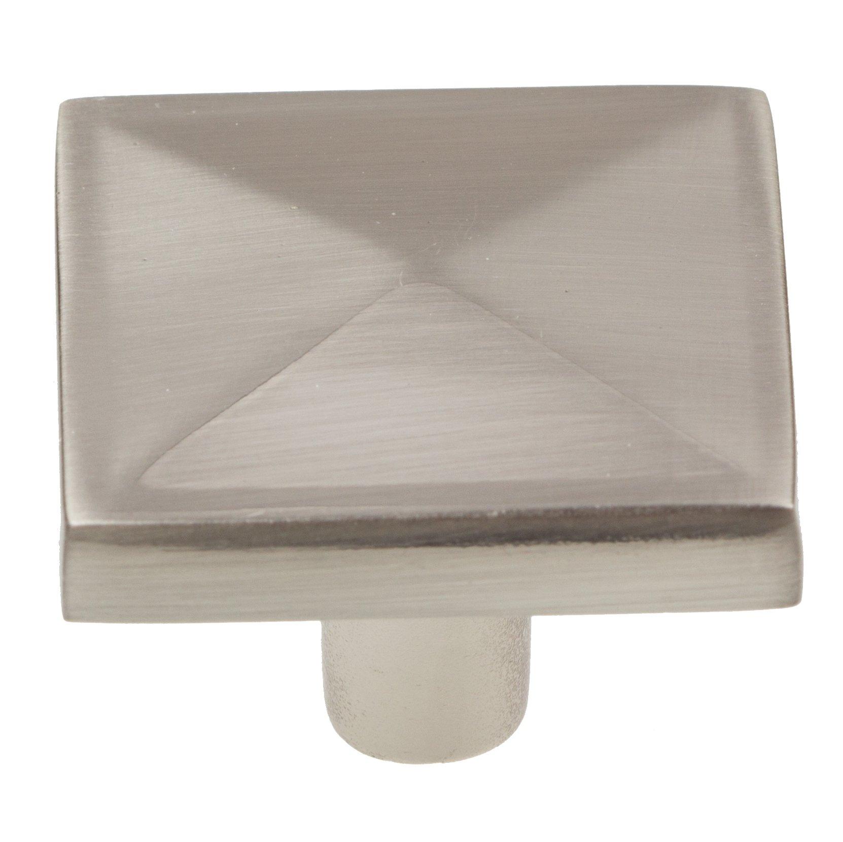 GlideRite Hardware 5207-SN-10 Square Knobs, 10 Pack, 1.25'', Satin Nickel