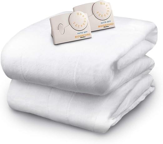 Amazon.com: Biddeford Blankets Polyester Electric Heated Mattress