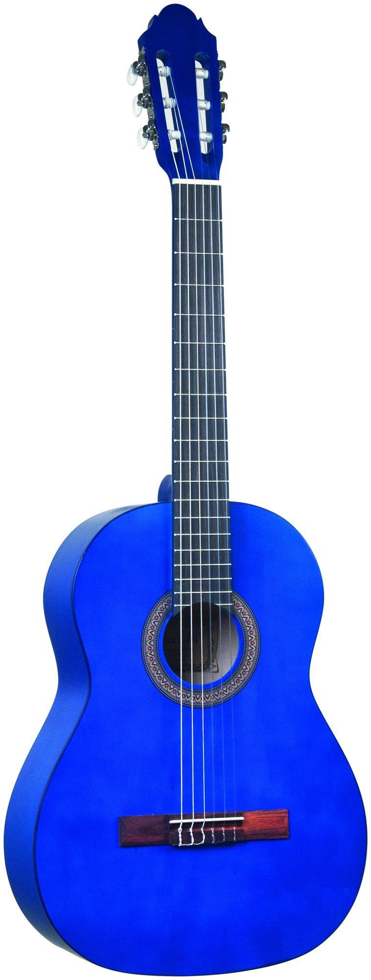 Lucida LG-400-3/4BL Student Classical Guitar, Blue, 3/4 Size