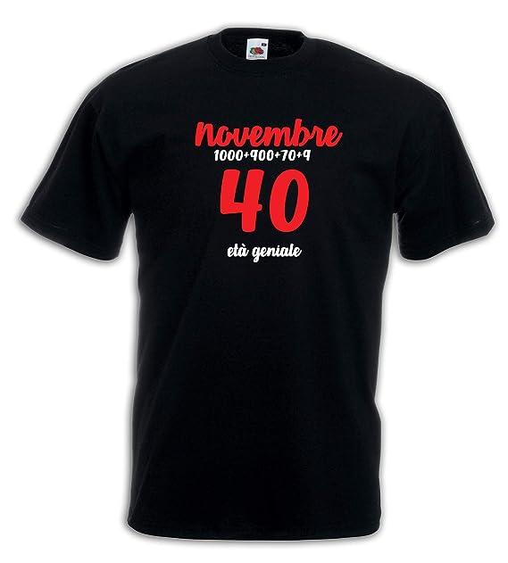Settantallora - Camiseta J3888 Novembre, 40 años de Edad ...