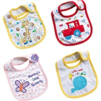 4 Packs Baby Bandana Drool Bibs Soft And Absorbent Unisex Teething Bibs for Boys and Girls Teething and Drooling 100…