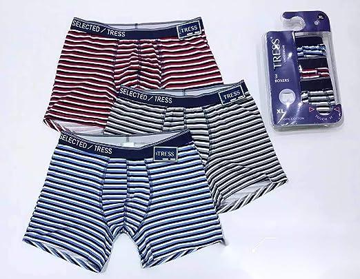 Pack 3 Slips para Hombre Calzoncillos Algodon YESOK Calzoncillos Hombre