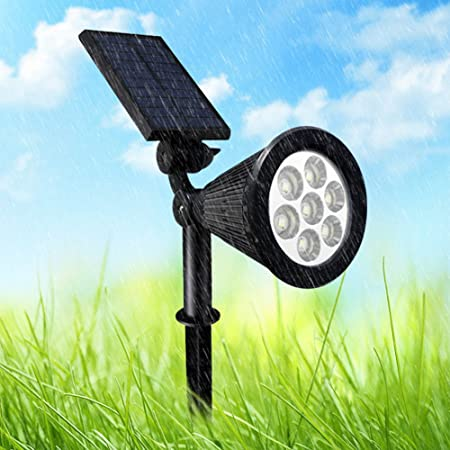 Pergrate Protector Tasa 7 LED Luz Solar Proyector Color Cambiante ...