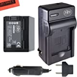 BM Premium Fully Decoded BP-727 Battery & Charger Kit for Canon Vixia HFR70, HFR72, HFR700, HFM50, HFM52, HFM500, HFR30, HFR32, HFR300, HFR40, HFR42, HFR400, HFR50, HFR52, HFR500, HFR60, HFR62, HFR600 Camcorder