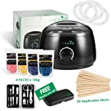 Professional 2019 Wax Warmer Home Waxing Heater Kit with Free Pro Manicure Set for Perfect Salon Hair Removal Results for Women & Men (UK Power Adaptor)