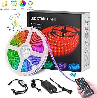 5 Meter LED Strip RGB Streifen 5050 Band LED-Leuchte Lichterkette Wasserdicht