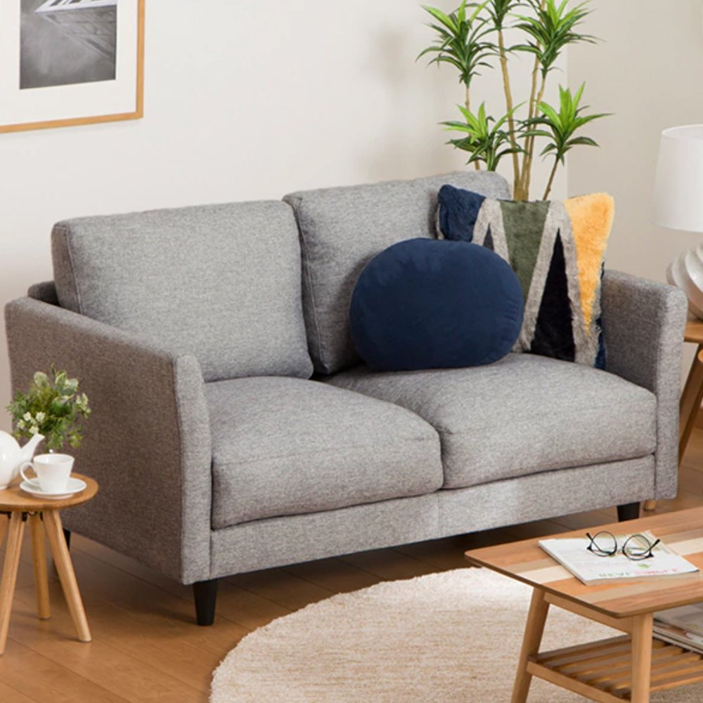 Furny Nolan Two Seater Sofa (Light Grey)
