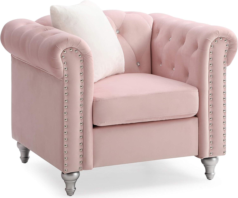 Glory Furniture Raisa , Pink Chair, 1 Seater
