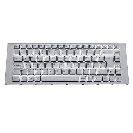 Generic New White SP Spanish Keyboard Teclado For Sony Vaio VPC-EA4S1E/L EA4S1E