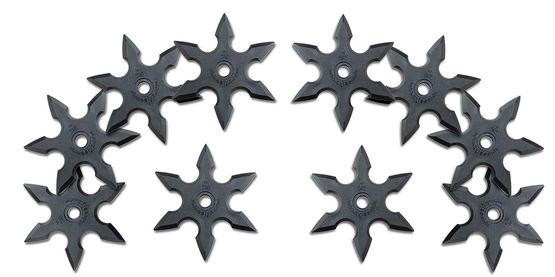 Halloween Ninja Rubber Throwing Star Kazaguruma Shuriken 10pc Set