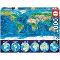 World Map 1000 Pieces Jigsaw Puzzle for Adult Kids,Fun Luminous puzzle, Colorful IQ Game Intelligent Educational Toys…