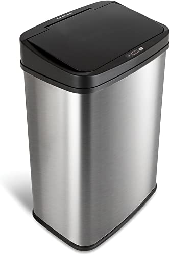 NINESTARS-DZT-50-28-Automatic-Touchless-Motion-Sensor-Rectangular-Trash-Can