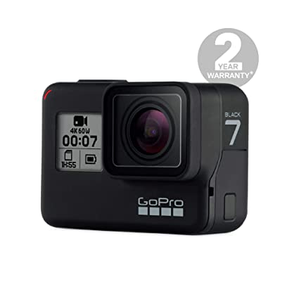 GoPro CHDHX-701-RW Hero7 Camera (Black) with Shorty - Bundle Pack