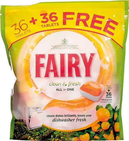 Hadas lavavajillas Tablets 36 PLUS 36 Citrus GRATIS: Amazon.es: Hogar