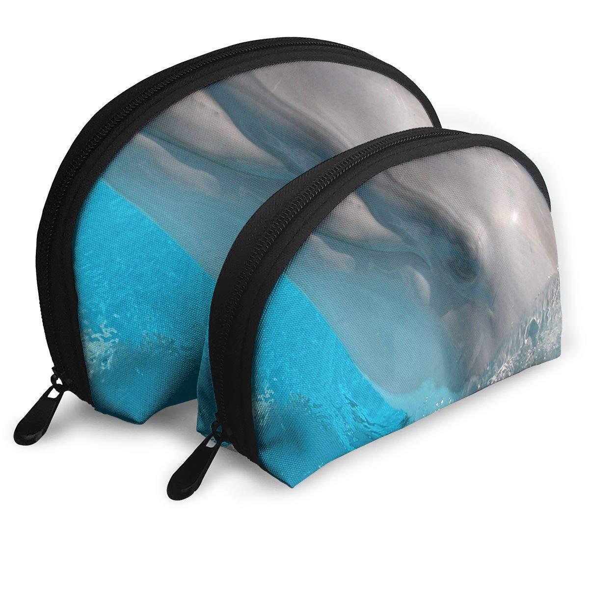 b398caf85acd Amazon.com : Makeup Bag Cute Animals Handy Half Moon Travel Bags Set ...