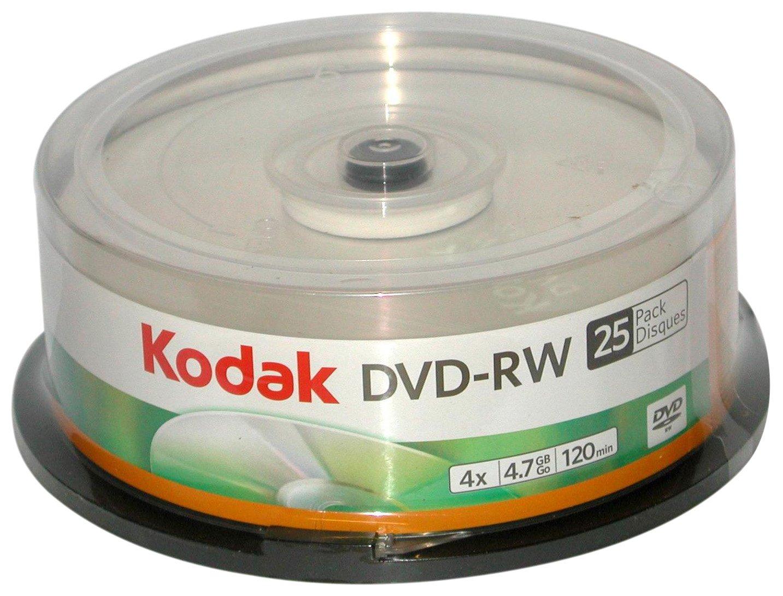 Kodak 50128 4.7 GB DVD-RW (25 - Pack)