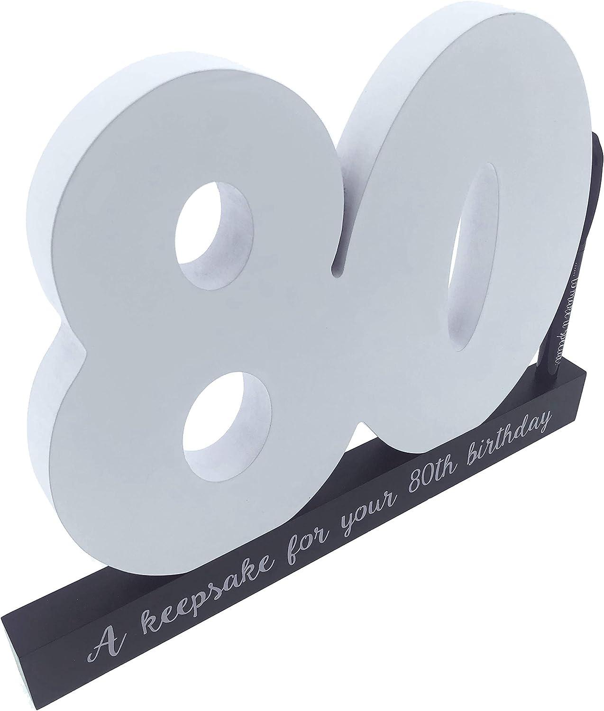 n/úmero de cumplea/ños para escribir en ella incluye bol/ígrafo idea de regalo para hombres y mujeres CREOFANT Libro de visitas de 80 cumplea/ños de madera