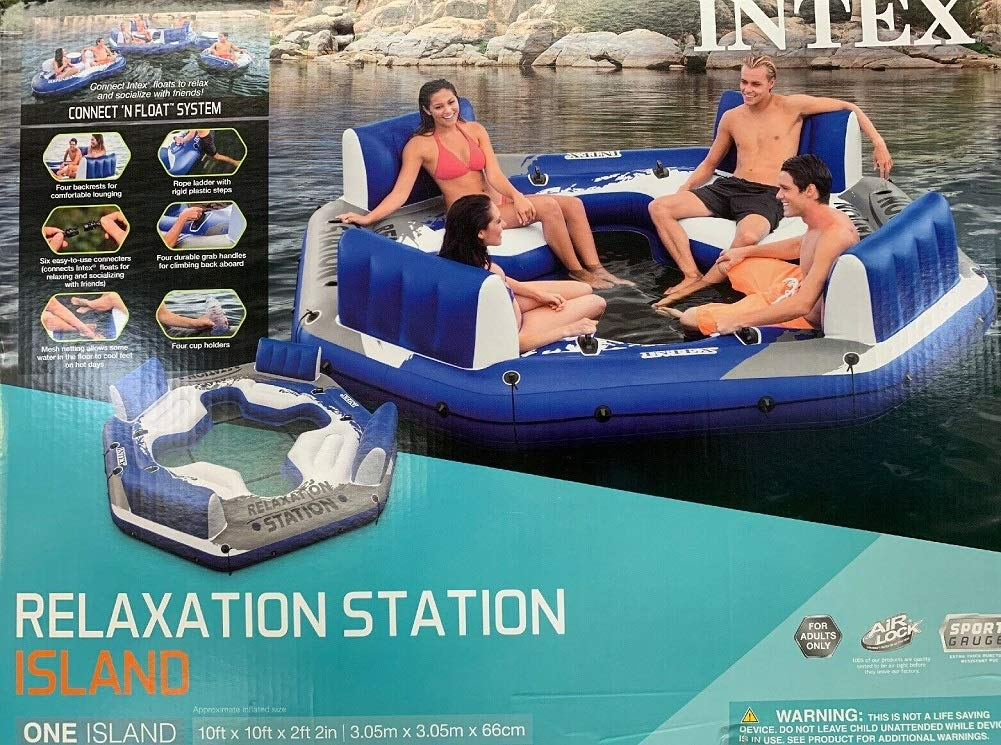Intex Pacific Paradise 4-Person Relaxation Station Water Lounge River Tube Raft by Intex (Image #4)