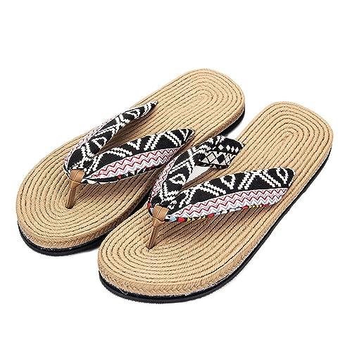 Aelegant Damen Herren Sommer Strandschuhe Flip-Flops Elegante Freizeitschuhe Flach Sandalen Platform Slippers Offene Flip Zehentrenner ZcIuQ