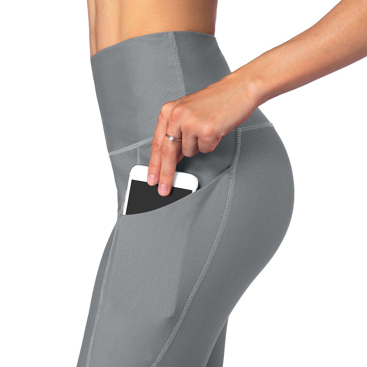 Occffy High Waist Out Pocket Yoga Pants Womens Tummy Control Workout Leggings Oc01