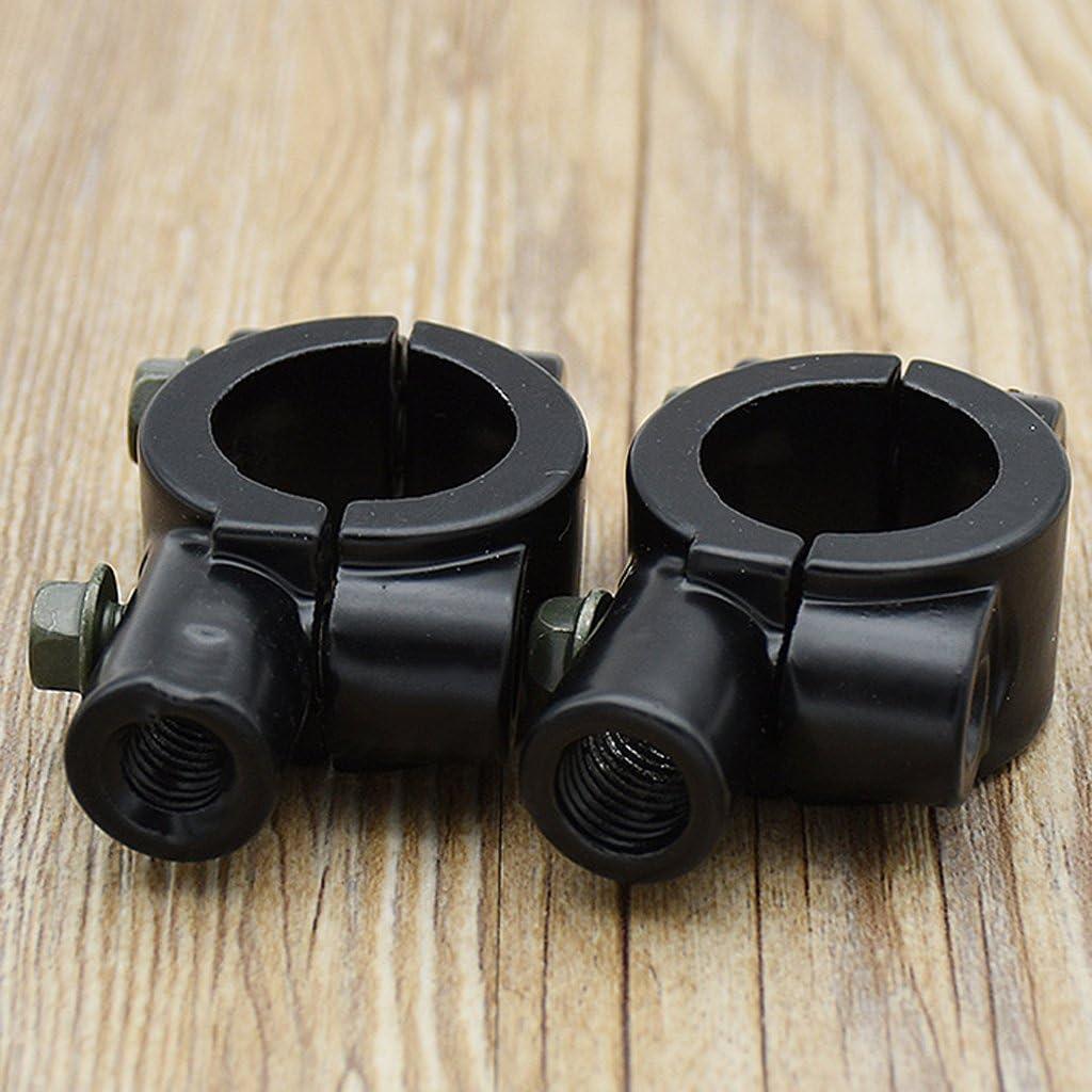 M10 Schwarz M8// M10 Wahlbar Gazechimp 1 Paar Motorrad Spiegel Halterung Klemme f/ür 22 mm Lenker Schwarz