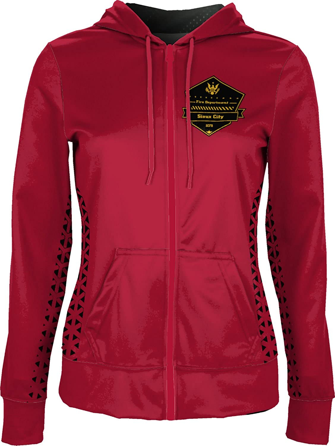 Women's Sioux City Fire Rescue Fire Department Geometric Fullzip Hoodie