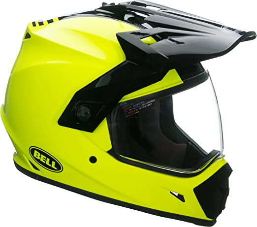 Amazon.com: Bell MX-9 Adventure MIPS Full-Face Motorcycle Helmet (Solid Gloss Hi-Viz Yellow, XX-Large): Automotive