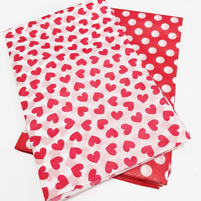 Decorazioni per Feste Rosso da Utilizzare per Fatti a Mano 20 /× 26 Pollici di Carta velina HEIGOO 10 Fogli di Carta da Regalo cesti Regalo o Borse