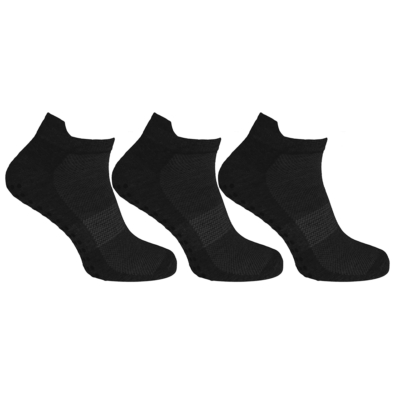 Redtag Mens Sport Sole Gripper Trainer/Liner Socks (3 Pairs) UTMB541_1