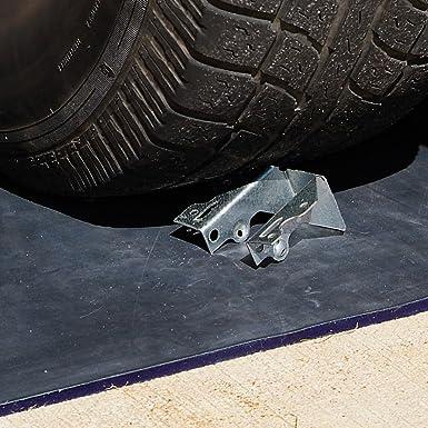 76 cm Length x 76 cm Width x 1 cm Height Bottom Blue New Pig PLR302 PIG Drive Over DRAINBLOCKER Drain Cover Top Black