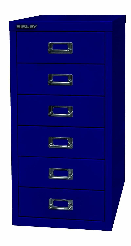 Bisley Schubladenschrank 29er Serie, DIN A4, 6 Schubladen, Farbe oxfordblau