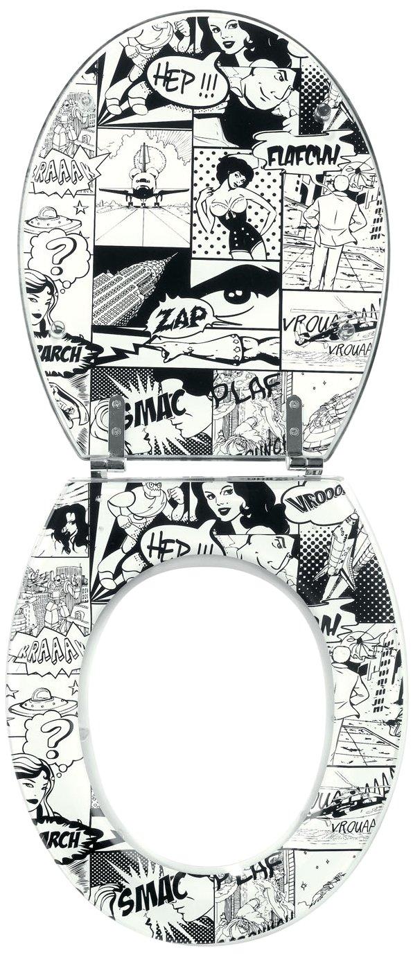 Wirquin Trendy Line Tapa para inodoro diseño de cómic
