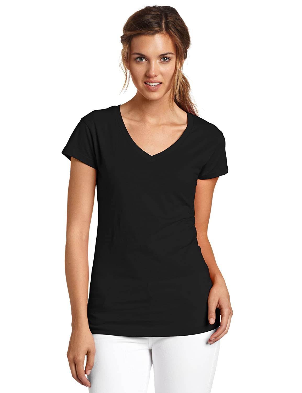 5fd19c92 Top1: Dickies Juniors' Solid Cap-Sleeve V-Neck T-Shirt