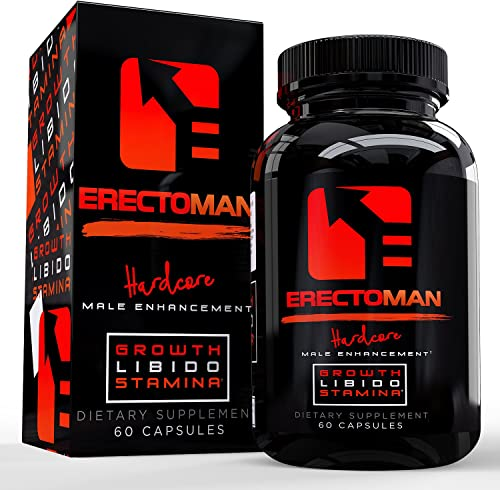 Erectoman Testosterone Booster Pills Increase Energy and Mood All Natural Herbal Pills 60 Capsules