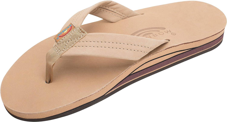   Rainbow Sandals Men Premium Leather Double Layer, Sierra Brown,   Sandals