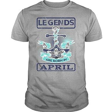 303719d2 April Birthday T Shirt, Legends are Born in April T Shirt-Unisex (S