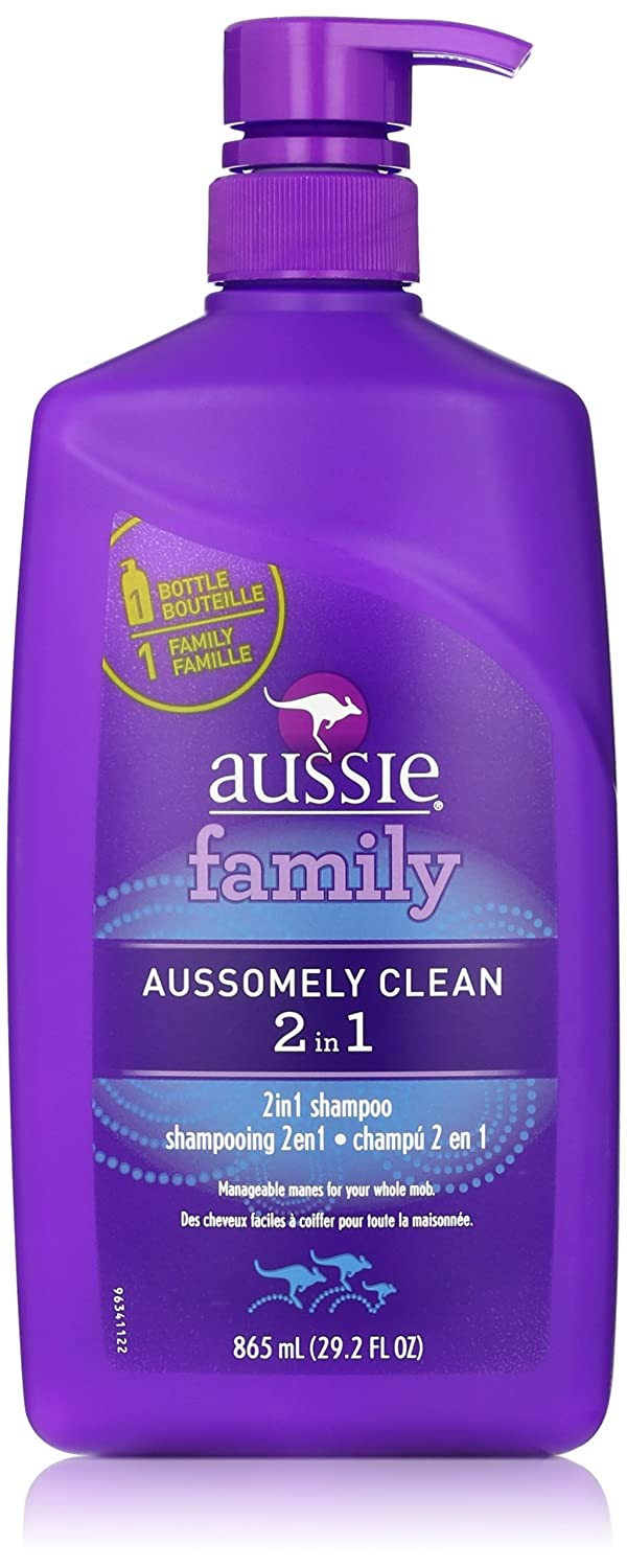 Aussie Aussomely Clean 2-in-1 Shampoo + Conditioner with Pump, 29.2 oz
