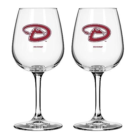f90cfb986b3a Amazon.com: MLB Arizona Diamondbacks Game Day Wine Glass, 12-ounce ...