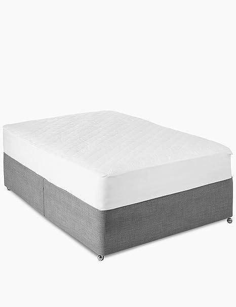 Protector de colchón acolchado de algodón natural, Super_King_182x200X30: Amazon.es: Hogar