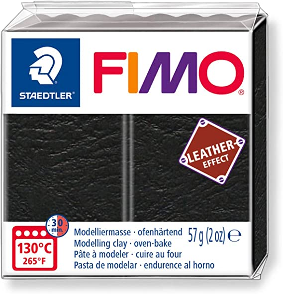 8010-369 St FIMO Leather-Effect P/âte /à Modeler Lagon Staedtler