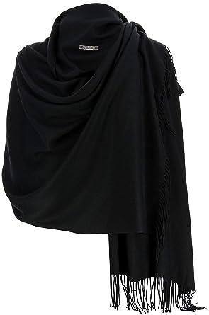 d699e94fd1 Charleselie94® - Etole châle écharpe cachemire laine noir BERTRAND NOIR